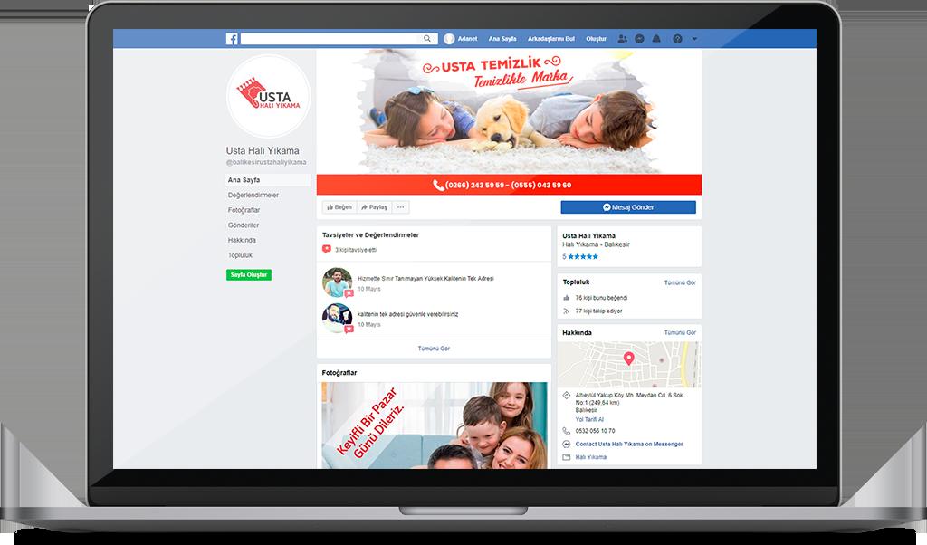 USTA HALI YIKAMA <span>Sosyal Medya Yönetimi</span>