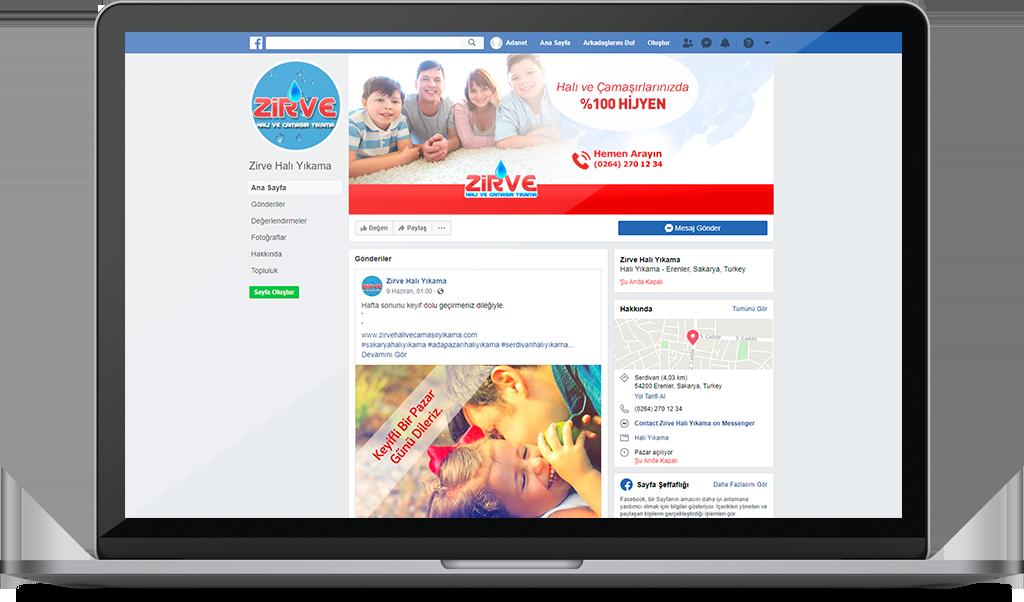 ZİRVE HALI YIKAMA Sosyal Medya Yönetimi